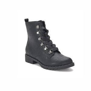 NEW!  Women's Size 7 Sugarmaple BLACK Combat Boots